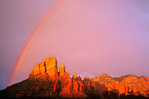 Rainbow over Camel Head Rock, Munds Mountain area of Coconino National Forest, Sedona, Arizona, AZ_34367, AGPix_1060