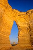 Natural window in chalk cliffs at Monument Rocks, north of Scott City, Kansas, KS_00026, AGPix_1070.tif