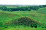 Glacial kame, a conical shaped hill formed of glacial debris during last Ice Age, Glacial Lakes State Park, Minnesota, MN_00846, AGPix_1088