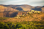 Ruins of Tuzigoot pueblo at first light viewed from Dead Horse Ranch State Park, Clarkdale, Arizona, AGPix_1101