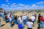 Spectators at horse race watching the Calcutta betting event, at Natoni Rocky Ridge Horse Race, Navajo Nation near Hardrock, Arizona, AGPix_1109