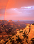 Rainbow over Grand Canyon at sunset, Yaki Point on South Rim of Grand Canyon National Park, Arizona, AGPix_1111