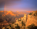 Rainbow over Grand Canyon at sunset, Yaki Point on South Rim of Grand Canyon National Park, Arizona, AGPix_1112