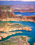 Lake Powell viewed from mesa above Gunsight and Padre Bays, Glen Canyon National Recreation Area, Utah, AGPix_1113