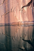 Reflections of sandstone canyon walls in the still waters of Lake Powell, Glen Canyon National Recreation Area, Utah, AGPix_1118