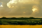 Storm clouds building over Black Hills, view from prairie at Wind Cave National Park, South Dakota, AGPix_1124