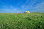 Sugarloaf Butte stands on the prairie at Oglala National Grassland near Crawford, Nebraska, AGPix_1128