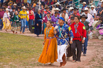 Dancers circle arena during traditional Navajo Song and Dance contest at the Navajo Nation Fair at Window Rock, Arizona, AGPix_1151