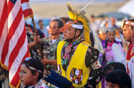 Dancer during Grand Entry of pow wow dancers at community of Hardrock on the Navajo Nation, Arizona, AGPix_1164