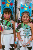 Zuni girls in dance attire during Flagstaff Indian Days Pow Wow held at Flagstaff, Arizona, AGPix_1203
