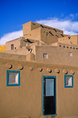 Taos Pueblo, an ancient adobe indian village dating back to around 1370 AD, Taos, New Mexico, AGPix_1211