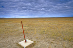 Center of the Nation is marked by stake on remote prairie in Butte County, 21 miles from Belle Fourche, South Dakota, AGPix_1213