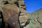 Indian petroglyphs, Fremont culture, in Nine Mile Canyon Archaeological District, northest of Price, Utah, AGPix_1231