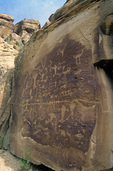 Indian petroglyphs, Fremont culture, in Nine Mile Canyon Archaeological District, northest of Price, Utah, AGPix_1232
