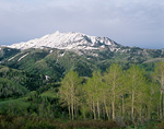 Mount Nebo with spring snow on peak, in the Wasatch Range, Uinta National Forest, near Nephi, Utah, AGPix_1240