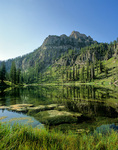 Magog Peak and White Pine Lake in the Bear River Mountains, above Bear Lake in Wasatch-Cache National Forest, Utah, AGPix_1241