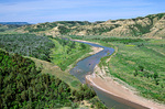 Little Missouri River in river valley at South Unit of Theodore Roosevelt National Park, North Dakota, AGPix_1270
