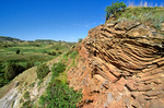 Scoria layer in badlands in South Unit of Theodore Roosevelt National Park, North Dakota, AGPix_1271