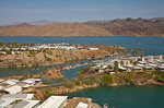 Development on shores of Lake Havasu on the Colorado River just above Parker Dam, Arizona, AGPix_1297