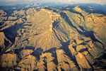 South Rim of Chisos Mountains, aerial view at sunrise over Big Bend National Park, Texas, USA,  AGPix_1336