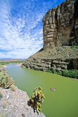 Rafting on the Rio Grande at mounth of Santa Elena Canyon, Big Bend National Park, Texas and Mexico,  AGPix_1342