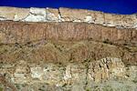 Sill of dark magma intruded between sedimentary rocks, now exposed in cliffs of Santa Elena Canyon, Big Bend Naitonal Park, Texas,  AGPix_1343