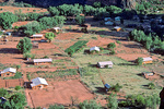 Supai Village, homes and farms on the Havasupai Indian Reservation deep inside the Grand Canyon, Arizona, AGPix_1355