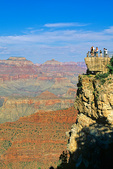 Canyon visitors at Mather Point Overlook on South Rim of Grand Canyon National Park, Arizona, AGPix_1366