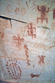 Indian pictographs, painted on rocks above the Bright Angel Trail in Grand Canyon National Park, Arizona, AGPix_1387