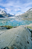 Igneous rock with glacial striation on shore of Johns Hopkins Inlet in Glacier Bay National Park, Alaska, AgPix_1404