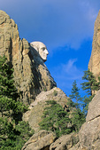 Profile of George Washington at Mount Rushmore National Memorial in Black Hills of South Dakota, AgPix_1415