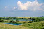 Coteau Des Prairies Region with grasslands and prairie pothole ponds in Marshall County, South Dakota, AgPix_1425