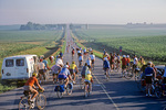 Crowds of cyclist fill rural highway during R.A.G.B.R.A.I. event, Registers annual Great Bicycle Ride Across Iowa, AGPix_1428
