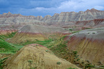 Colorful Badlands sediments in Yellow Mounds area of Badlands National Park, South Dakota, AGPix_1437