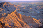 Sunset on Badlands from Stronghold Table area of South Unit of Badlands National Park, South Dakota, AGPix_1439