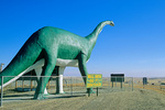 80 foot tall Dinosaur overlooks Interstate 40 near Wall Drug at Wall, South Dakota, AGPix_1446