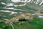 Village of Castelluccio in Monti Sibillini National Park, in the Apennines northeast of Norcia, Umbria, Italy, IT_00144, AgPix_1456