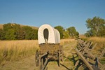 Covered wagon on route of Oregon Trail at Whitman Mission National Historic Site, Washington, _MG_37033, AGPix_1480