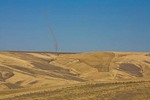 Dust Devil forms over plowed wheat field near Dayton in Eastern Washington, _MG_37057, AGPix_1481