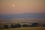 Moonrise over the mountains and agricultural lands of the Camas Prairie near Cottonwood, Idaho, _MG_37196, AGPix_1483