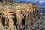 Cliff of Redwall Limestone with cave entrance at Horseshoe Mesa in Grand Canyon National Park, Arizona, AZGC_01360, AGPix_1491