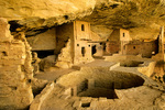 Balcony House, an ancient Puebloan indian ruins with kiva at Mesa Verde National Park, Colorado, AGPix_04446, AGPix_1551