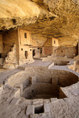 Balcony House, an ancient Puebloan indian ruin with kiva at Mesa Verde National Park, Colorado, CO_04594, AGPix_1555