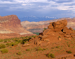 Capitol Reef and Henry Mountains viewed from Panorama Point at Capitol Reef National Park, Utah, UT_03409, AGPix_1572