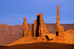 Yei Bi Chei Rocks and Totem Pole at  Monument Valley Navajo Tribal Park, Arizona, AZ_03588, AGPix_1578