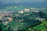 Spoleto, an Umbrian hilltown with fortress of La Rocca and Ponte delle Torri bridge, Umbria, Italy, IT_4009, AGPix_1584 