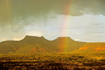 """Rainbow over Grand Gulch Plateau with """"The Bears Ears"""" view  at Natural Bridges National Monument, Utah, UT_05084, AGPix_1596"""