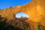 Turret Arch viewed through North Window at Arches National Park near Moab, Utah, UT_02302, AGPix_1608