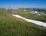 Alpine tundra and snowfields in Tushar Mountains near Delano Peak, Fish Lake National Forest, Utah, UT_06942, AGPix_1618