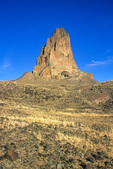 Agathla Peak, (El Capitan) an exposed volcanic neck along highway 163, Navajo Nation, north of Kayenta, Arizona, AZ_03864, AGPix_1628